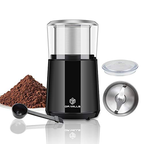 DR MILLS DM-7451 Electric Dried Spice and Coffee Grinder,detachable cup, OK for clean it with water, Blade & cup made…