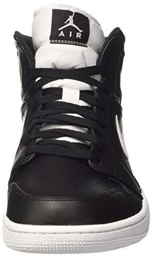 free shipping clearance store buy cheap prices Nike Men's Air Jordan 1 Mid Basketball Shoe Black/White-white outlet Inexpensive 7qAZrL
