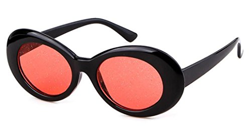 Sol Trend Particles Gafas Film Sunglasses de Glasses Fluorescent Black Aliens Red Interesantes Fashion Accesorios Frame Warmman Party RFIUww