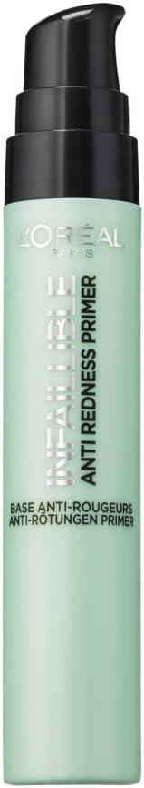 L'Oréal Paris Infallible, Prebase de Maquillaje Antirrojeces 24h, Tono 02 The Neutralizer