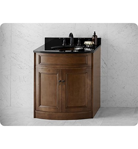 RONBOW Marcello 30 Inch Bathroom Vanity Base Cabinet with Soft Close Wood Door and Cabinet Drawer in Café Walnut 060630-F13 by Ronbow