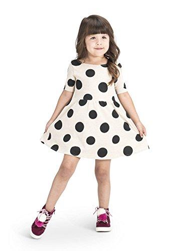 Colored Organics Girls Bailey Ballet Dress- Big Polka Dot - - Clothes Bailey