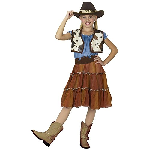 Fun World Cowgirl Small (4-6) (Halloween Costumes Denim Vest)