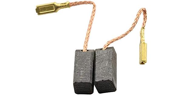 6,3x8x13,5mm Escobillas de Carb/ón para ELU WS14EA amoladora 2.4x3.1x5.1