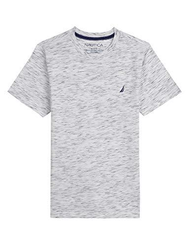 Nautica Boys' Short Sleeve Solid Crew-Neck T-Shirt, Westport Space Heather, ()