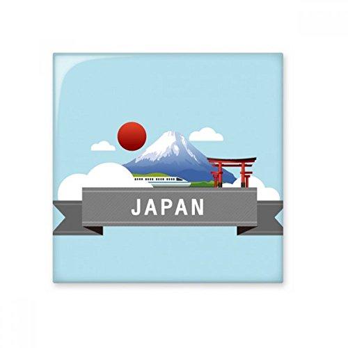 (Japan Mount Fuji Red Sun Rail Train Temple Ceramic Bisque Tiles Bathroom Decor Kitchen Ceramic Tiles Wall Tiles)