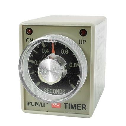 eDealMax AH3-2 DC 24V de 8 pines DPDT 0-1 segundos 1Sec Retardo a la conexión del relé temporizador Tiempo - - Amazon.com