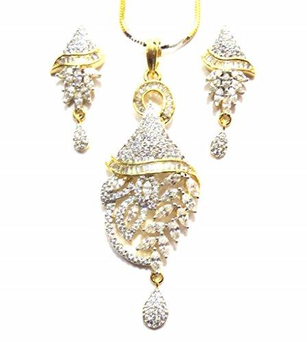 Jewelshingar Jewellery Cubic Zirconia Necklace Set For Girls ( 17885-psad ) by Jewelshingar
