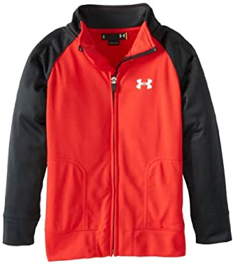 Under Armour Little Boys' Track Jacket, Red, 3T
