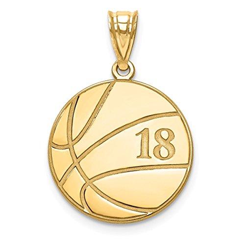 10k Gold Basketball Charm - 9