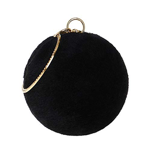 For Clutch Black Dress Wedding Bags Party Evening Handbag Womens Suede Chain Purse Zq1HUO