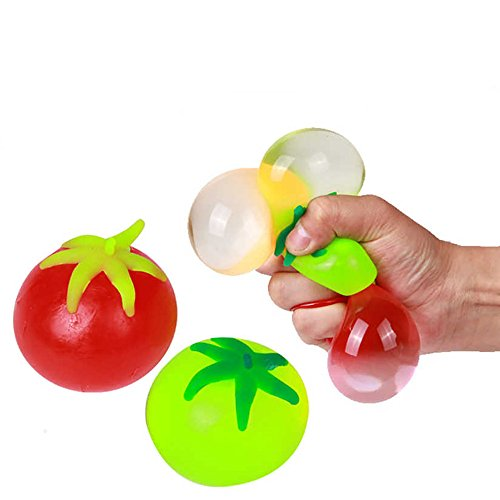 7PCS/LOT Fruit Shaped Splatter Water Toys, Anti Stress Squeeze Tricky Toys, Funny Fool Days Props Balls Gift for Children for $<!--$11.89-->