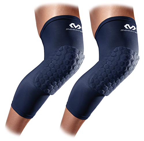 Knee Compression Sleeves: McDavid Hex Knee Pads Compression Leg Sleeve for Basketball, Volleyball, Weightlifting, and More - Pair of Sleeves, Medium