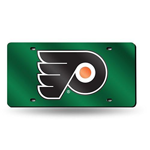 NHL Philadelphia Flyers Laser Inlaid Metal License Plate Tag