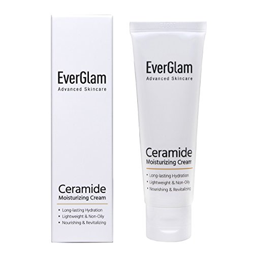 - K Beauty Intensive Ceramide Face Moisturizer - Lightweight Non-Greasy & Long-Lasting + Rejuvenating & Anti-Wrinkle Formula | Korean Skincare By EverGlam