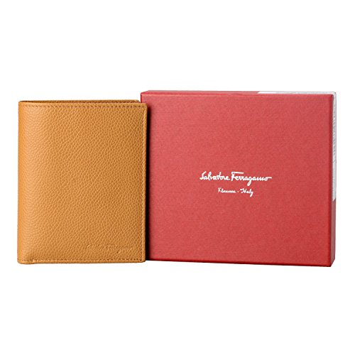Salvatore Bifold Brown Textured Light Salvatore Wallet Leather Ferragamo Men's Ferragamo SwqFTf5