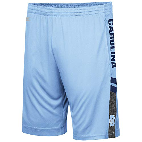 UNC Tarheels Carolina Blue Polyester Perfect Season Training Shorts (Medium) ()