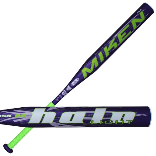 Miken Halo Light Composite Fast Pitch Softball Bat, Purple, 32-Inch/19.5-Ounce