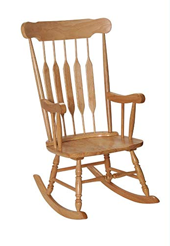 GiftMark 1233-3800N Adult Solid Wood Rocking Chair, Natural