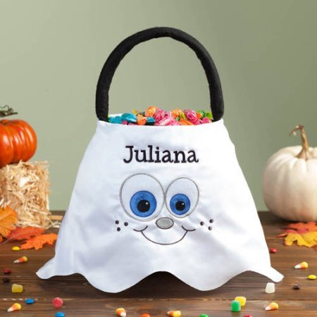 [Personalized Halloween Basket Ghost] (Party City Indian Costume)