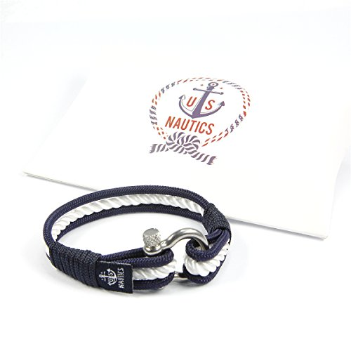 Blue Ocean Nautical Bracelets - Beautiful Bracelets Made of Yachting Rope- Wide Variety of Designs&Colors- Stainless Steel Buckle- Great Gift Idea For Men&Women- (Large, Nice) Photo #4