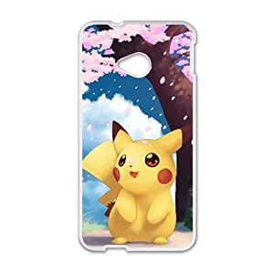 Pikachu Pocket Monster Pokemon White HTC M7 case