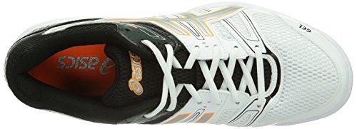ASICS Gel-Rocket 7 - Zapatillas de deporte para hombre Blanco (White/black/vermilion)