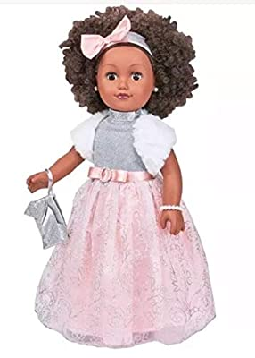 """My Life As 18"""" Poseable African American Winter Princess Doll, Black Hair with a Soft Torso"""