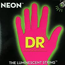 DR Strings Hi-Def NEON Pink Coated Medium 7-String Electric Guitar Strings (10-56) Neon Pink