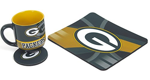 Green Bay Packers Computer workstation set,includes a mouse pad, coas ter and a 11 oz coffee mug - Green Bay Packers Ceramic