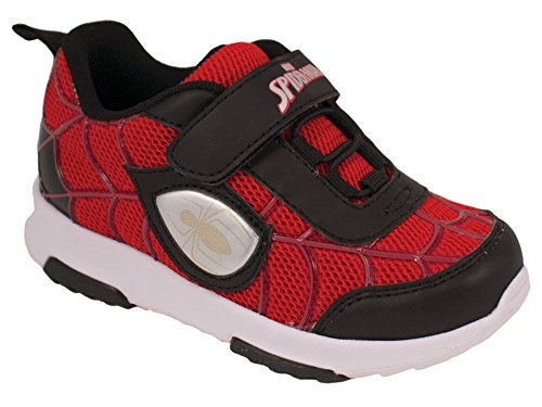 Favorite Characters Baby Boy's SPF372 Spider-Man¿ Lighted Sneaker (Toddler/Little Kid) Red/Black 12 M US Little Kid M -