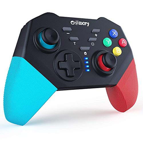Gamory Controller Wireless per Nintendo Switch Connessione Bluetooth Wireless Doppio Shock e Funzione Screenshot di Vibrazione del Giroscopio Adatto per Super Mario Odyssey