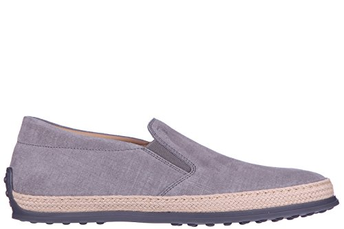 tods-mens-suede-slip-on-sneakers-rubber-rafia-tv-grey-us-size-105-xxm0tv0k900bv8b606