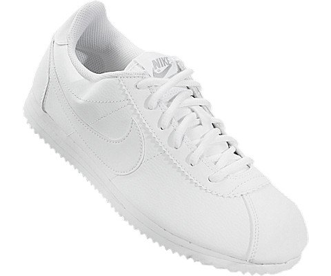 Nike Kids Cortez (GS) White/White Wolf Grey Casual Shoe 7 Kids US Photo #3