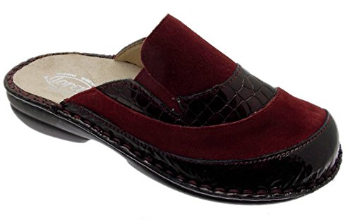 Mujer Por Casa Zapatillas De Granate Para Estar Loren Rojo qP6Axp
