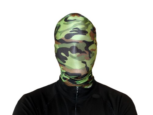 Morphsuits Morphmask Premium Camouflage, Green/Brown/Black, One (Brown Morphsuit)