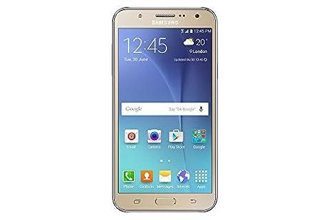 Samsung Galaxy J7 J700M, 16GB, Dual SIM LTE, Factory Unlocked - Gold (International Version) (Unlock Dual Sim Phone)