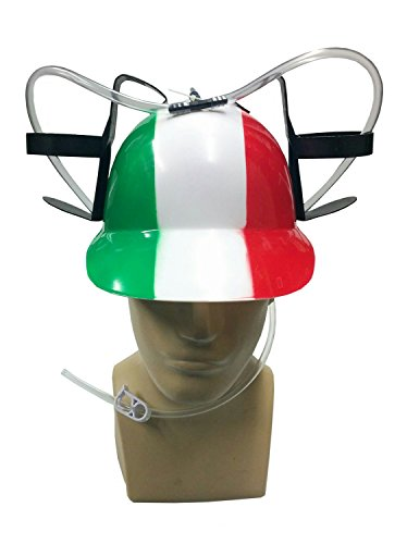 [Drinking Beer Soda Pop Can Helmet Italian Italy Flag Colors Costume Accessory] (Soda Can Costume)