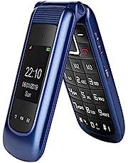 GSM Telefono Cellulare per Anziani,Tasti Grandi,Volume alto,Funzione SOS, Dual SIM,Pantalla 2.4(Blu)