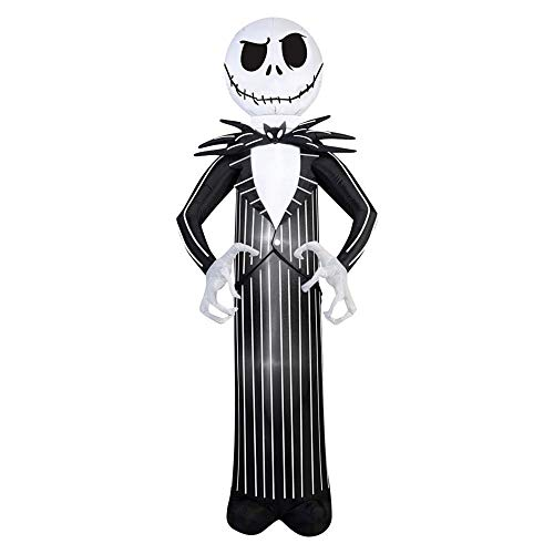 Airblown Inflatable Jack Skellington Nightmare Before Christmas Halloween Decoration 7' Tall]()