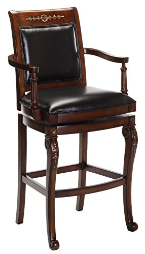 Hillsdale Furniture 61574-Bar Hillsdale 61573 Douglas Wood Counter Stool, Distressed Cherry with Gold Highlights Finish,