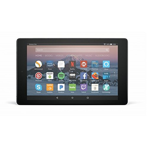 Fire HD 8 Tablet with Alexa, 8' HD Display, 16 GB, Black - with Special Offers (Previous Generation...