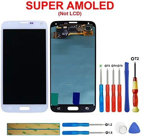swark Super AMOLED Pantalla para Samsung Galaxy S5 SM-G900 F G900 F, Color Blanco + Herramienta Opening Tool Número de Modelo: GH97 – 15959b: Amazon.es: Electrónica