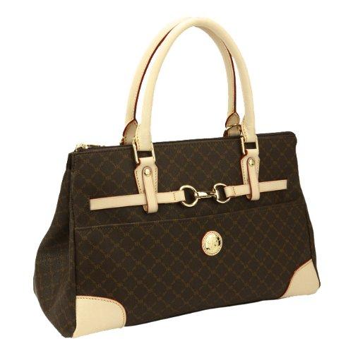 Signature Satchel Handbag - Rioni Signature Princess Satchel Handbag Purse - Brown