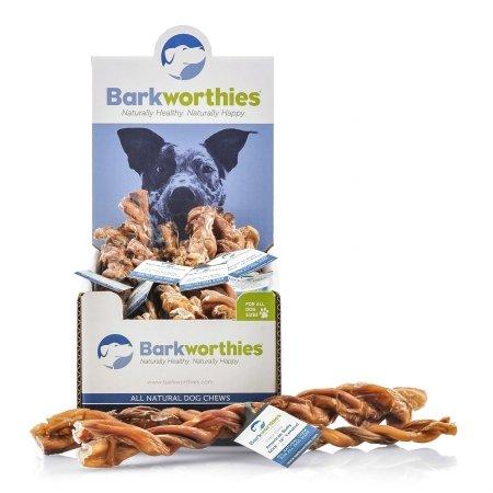 Barkworthies BARK-TWOFAM12MC Bully Stick - Odor Free American Twisted - 12 in. Mini Case