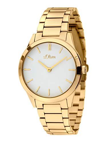 s.Oliver Damen Analog Quarz Armbanduhr mit Edelstahl Armband 2