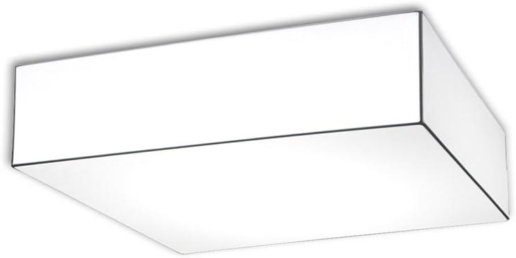 Ole! by FM BLOCK/B/10/60-I Aplique/Plafón estructura metálica recubierta de tela elástica E27, Blanco óptico, 60 x 60 x 16 cm