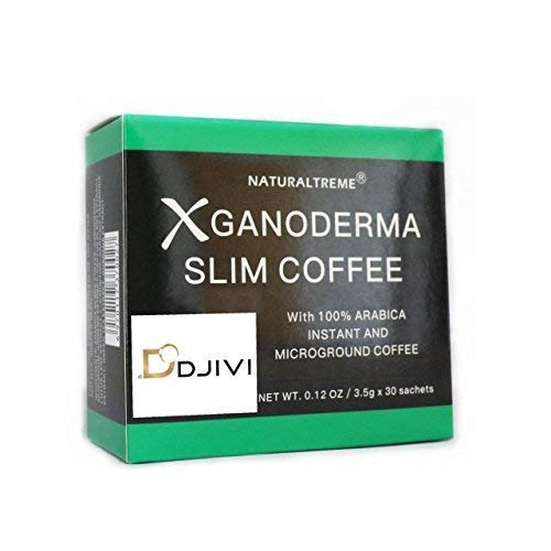(Dodjivi Ganoderma Slim Coffee & Detox 100% Arabica Black Premium Instant Coffee - (1 Box of 30 Sachets))