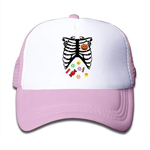 Heart of Pumpkin Halloween Candy5 On Children's Trucker Hat, Youth Toddler Mesh Hats Baseball Cap -