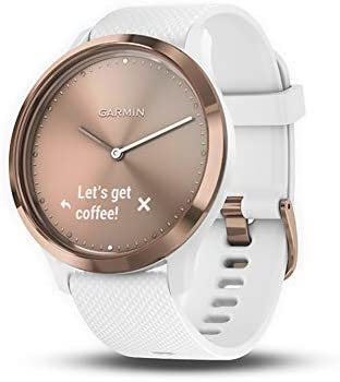 Garmin vívomove HR, Hybrid Smartwatch for Men and Women, White/Rose Gold, Small/Medium (010-01850-12)